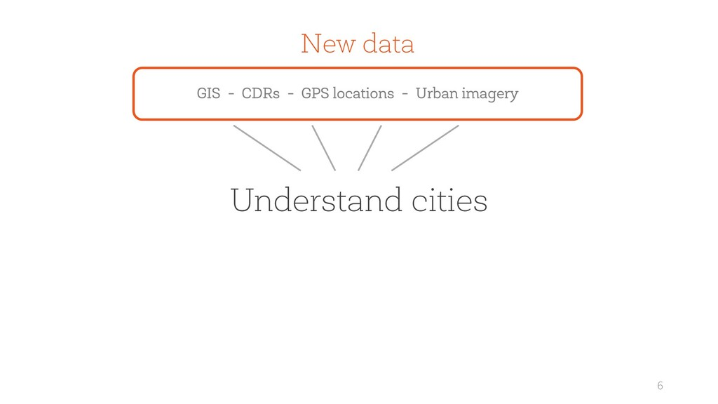 6 Understand cities New data