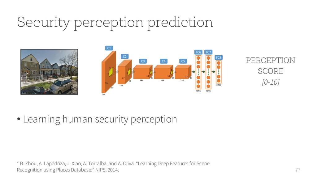 77 Security perception prediction * B. Zhou, A....