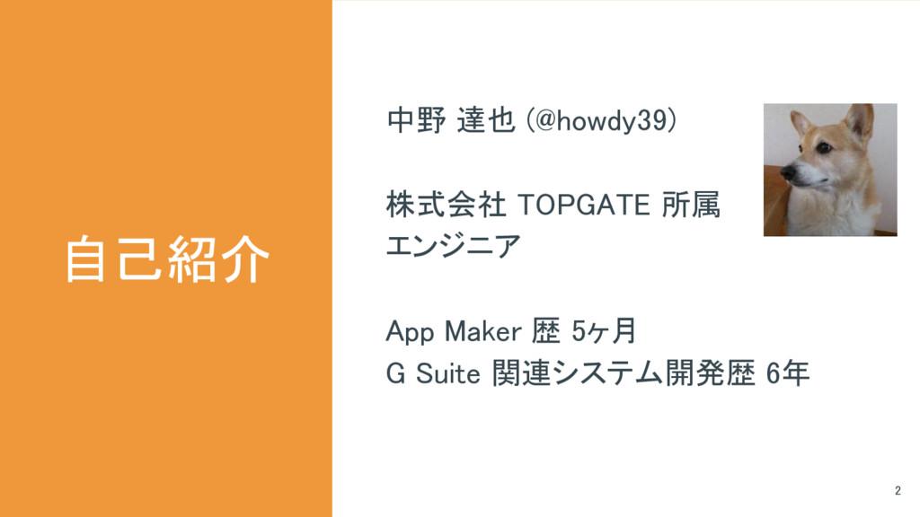 中野 達也 (@howdy39) 株式会社 TOPGATE 所属 エンジニア App Make...