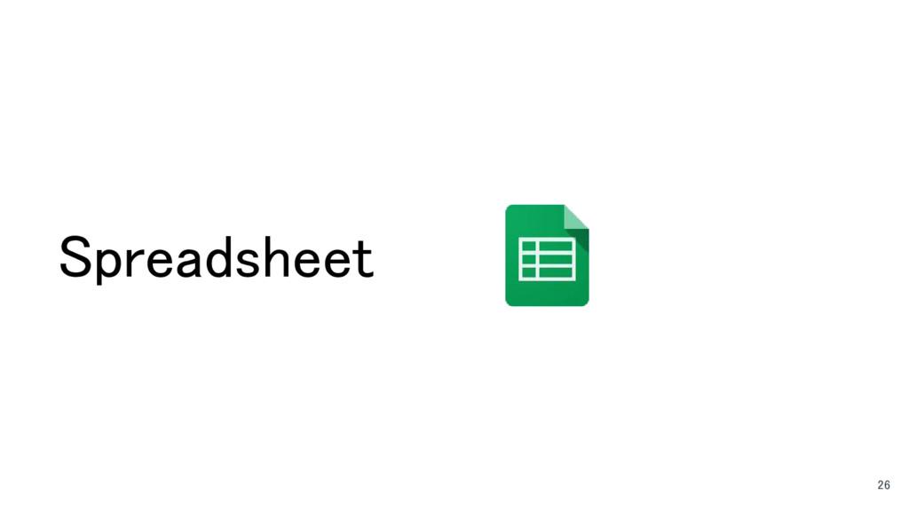 Spreadsheet 26