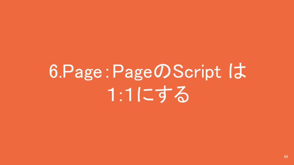 6.Page:PageのScript は 1:1にする 46