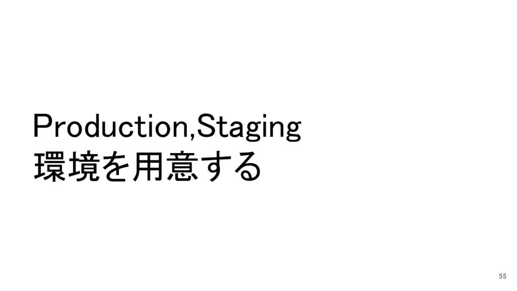 Production,Staging 環境を用意する 55