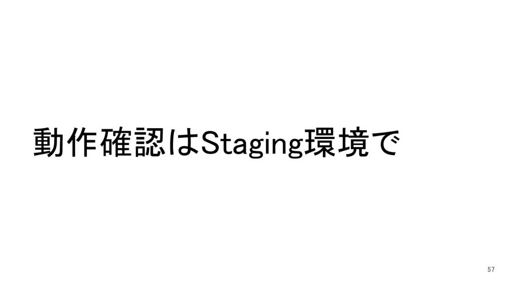 動作確認はStaging環境で 57