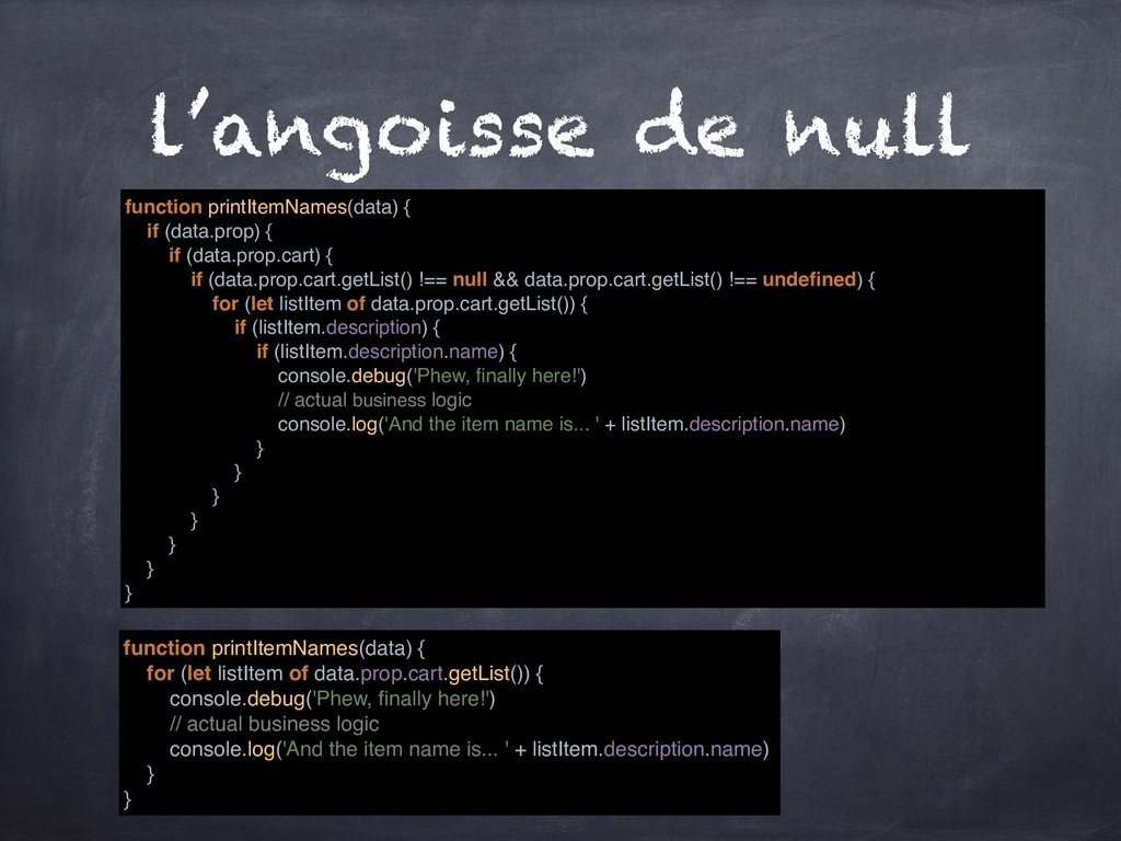 l'angoisse de null function printItemNames(data...