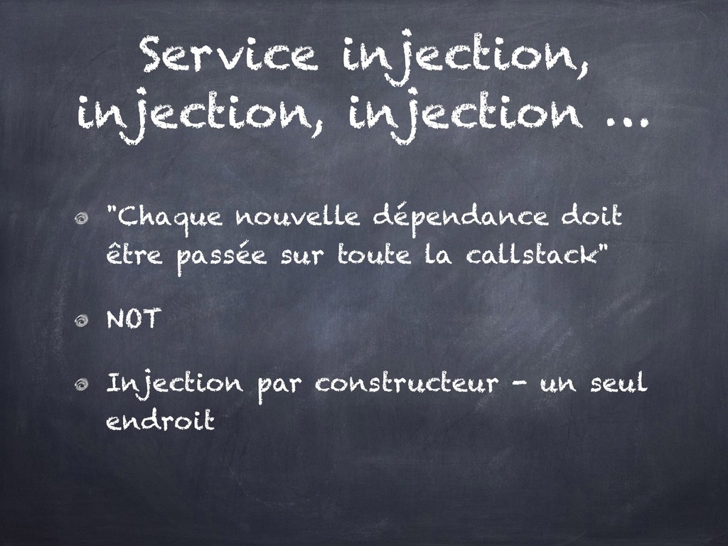 """Service injection, injection, injection … """"Chaq..."""