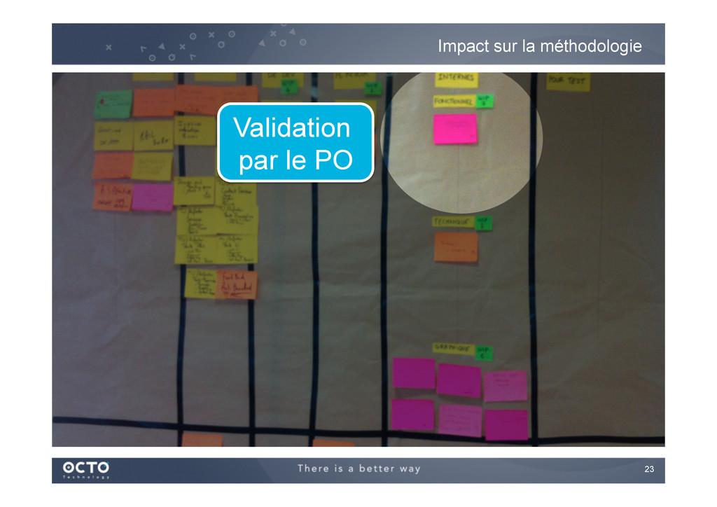 23   Impact sur la méthodologie Validation pa...