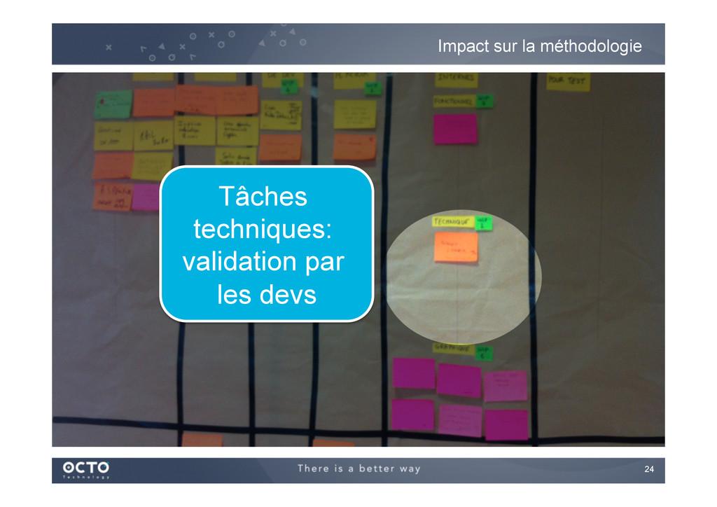 24   Impact sur la méthodologie Tâches techni...