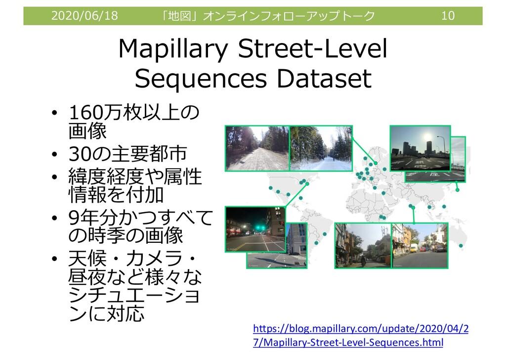 2020/06/18 「地図」オンラインフォローアップトーク 10 Mapillary Str...