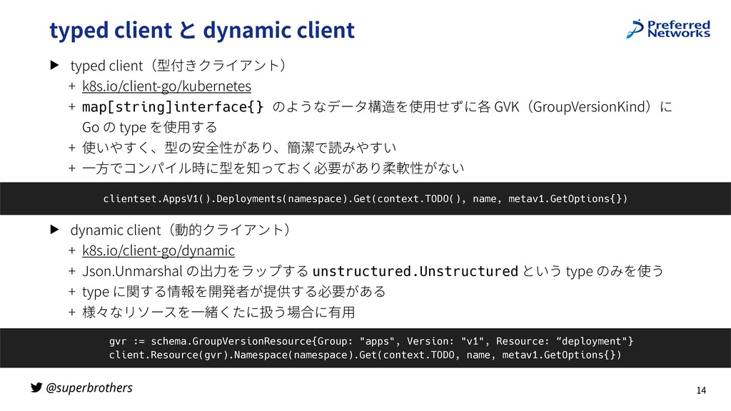 @superbrothers typed client と dynamic client ▶ ...