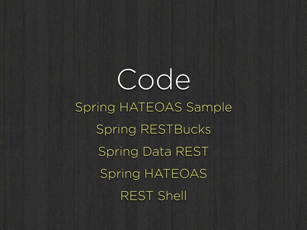 Code Spring HATEOAS Sample Spring RESTBucks Spr...