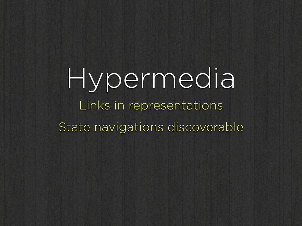 Hypermedia Links in representations State navig...