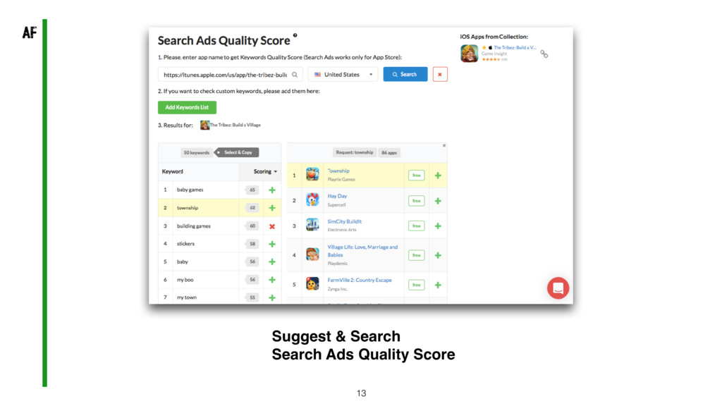 13 Suggest & Search Search Ads Quality Score