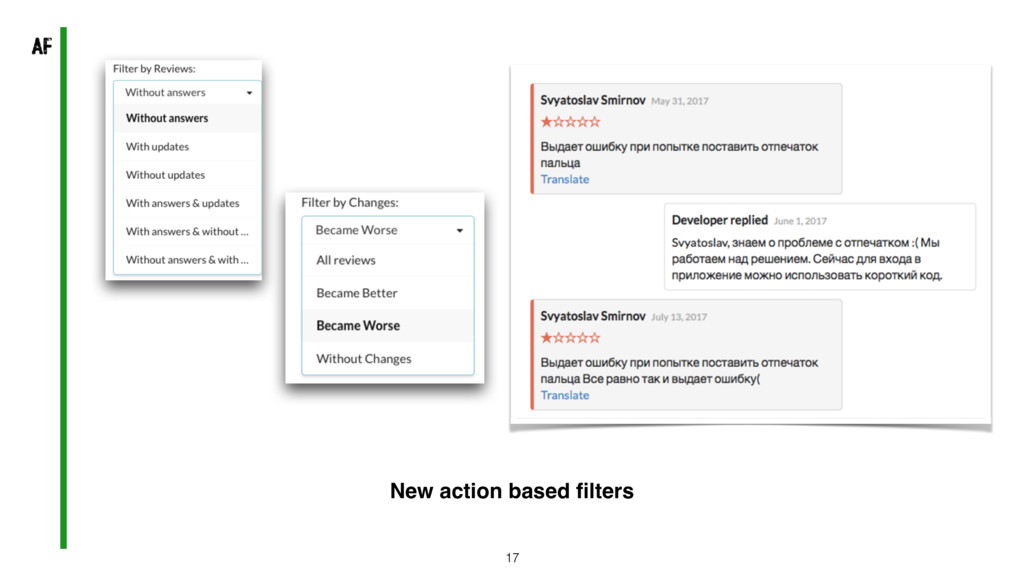 17 New action based filters
