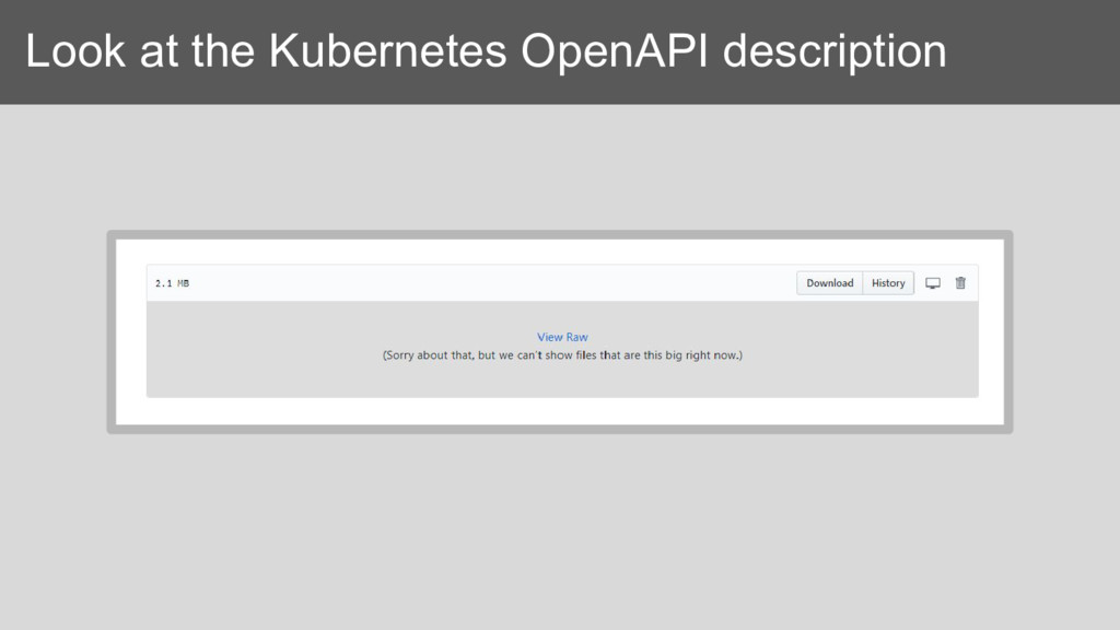 Look at the Kubernetes OpenAPI description