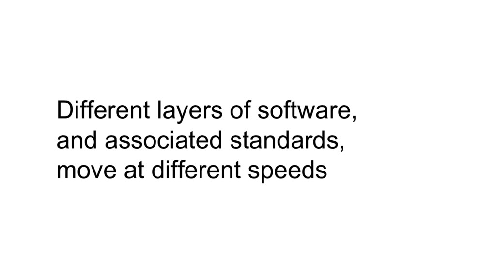 Different layers of software, and associated st...
