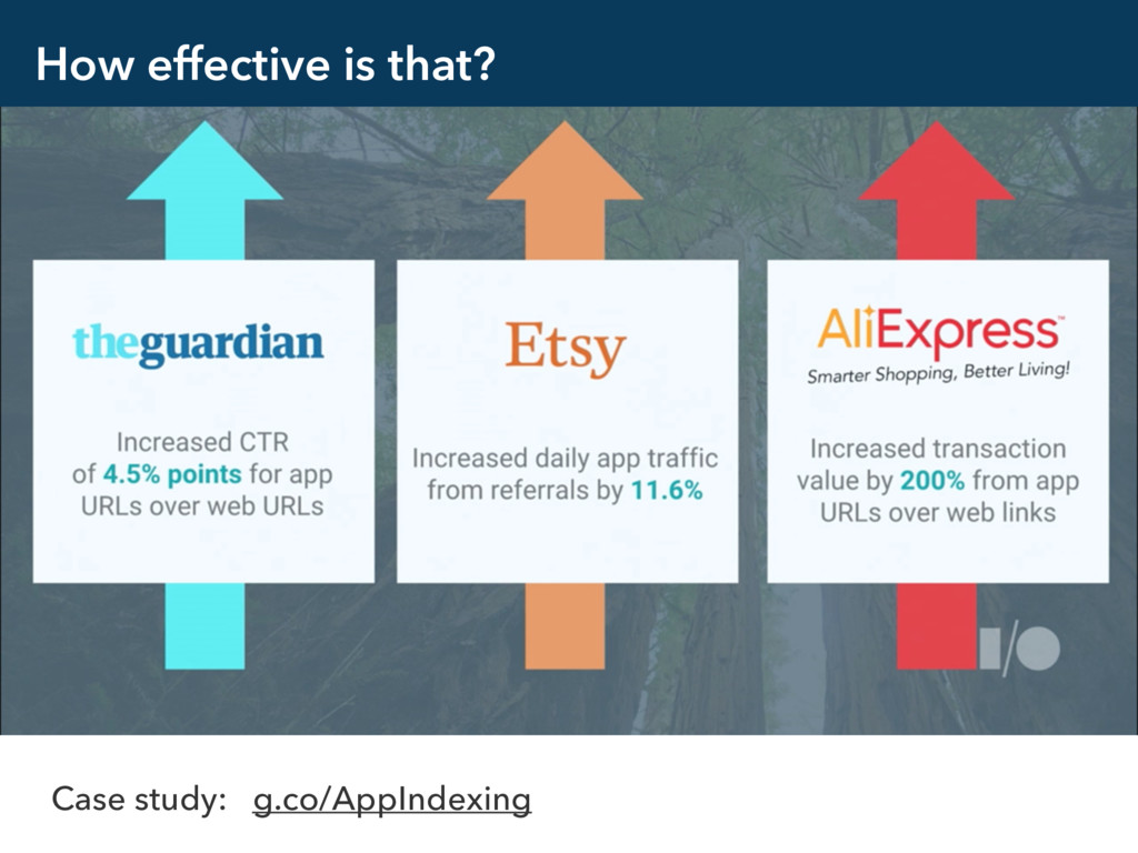 How effective is that? Case study: g.co/AppInde...