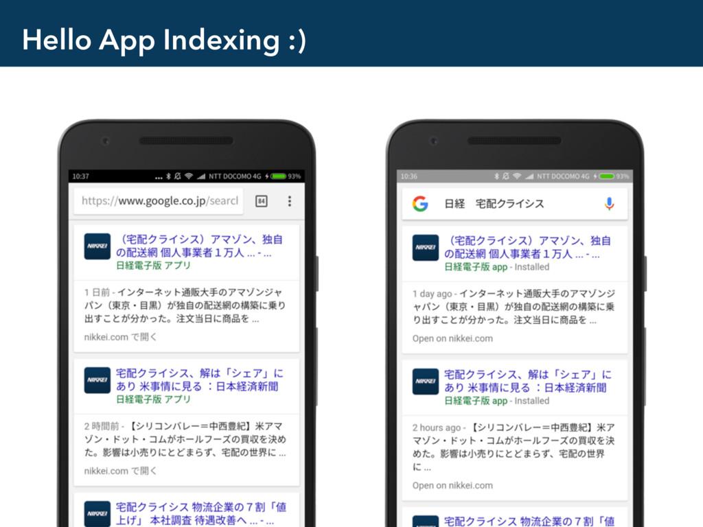 Hello App Indexing :)