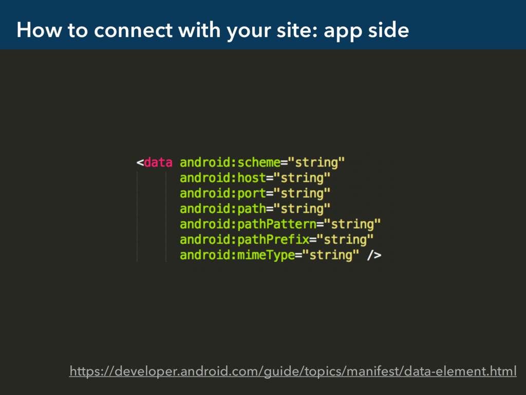 How to connect with your site: app side https:/...