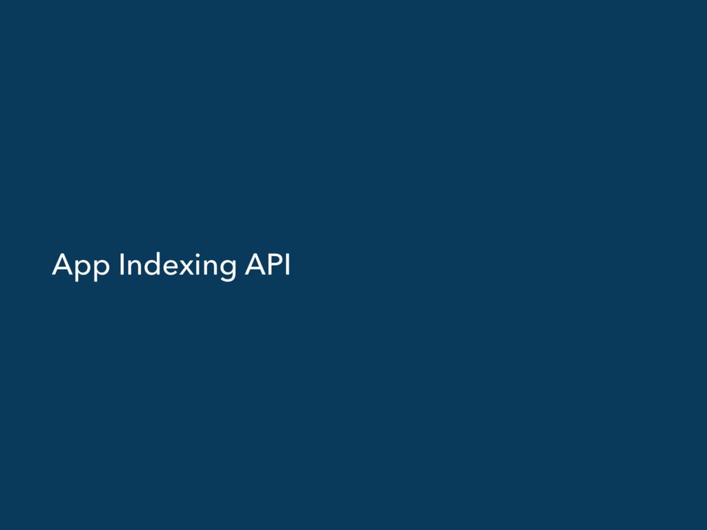 App Indexing API