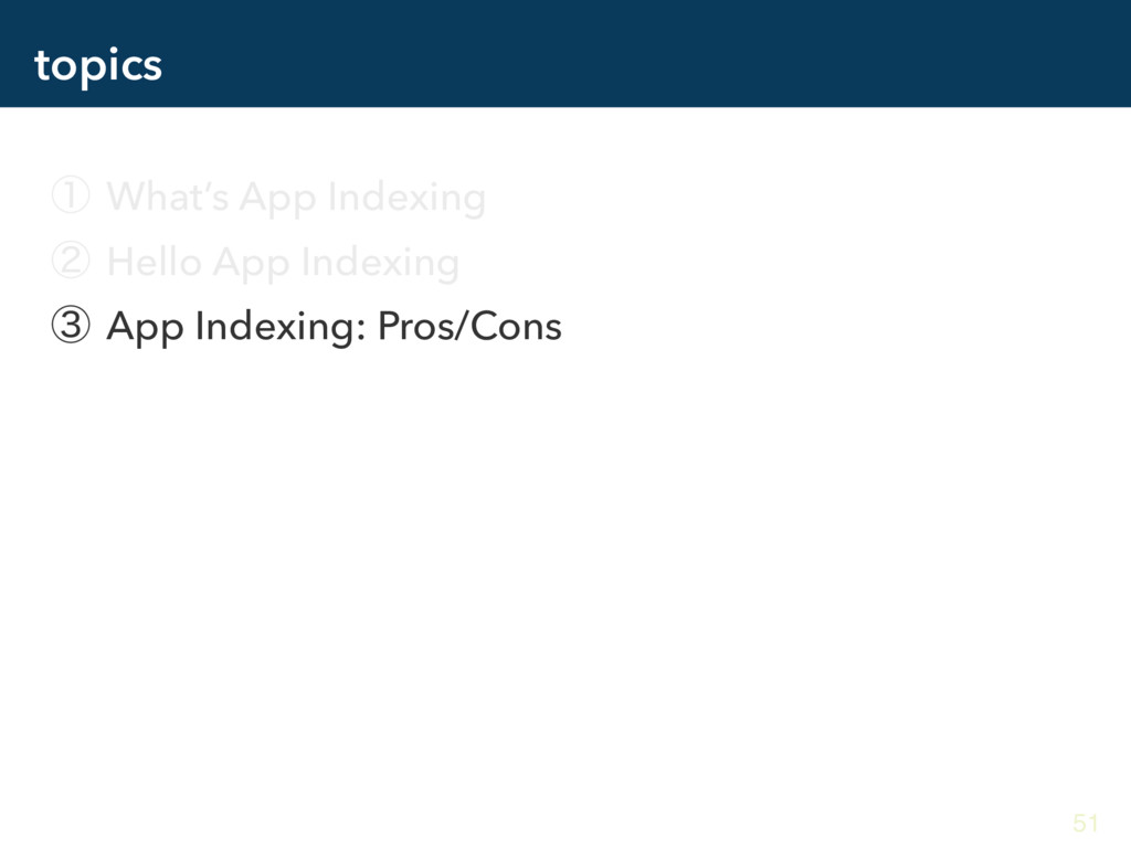 topics ᶃ What's App Indexing ᶄ Hello App Indexi...