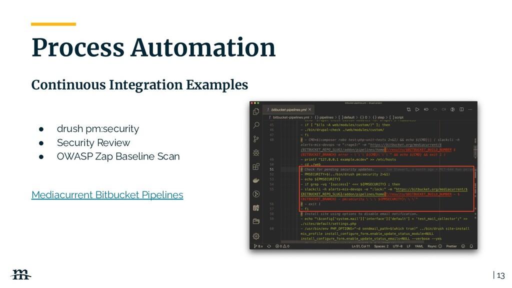 | 13 Process Automation Continuous Integration ...