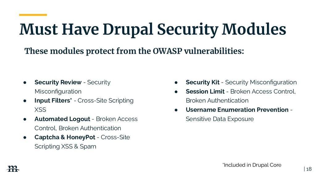   18 ● Security Review - Security Misconfigurati...