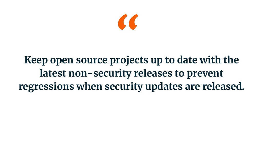 Keep open source projects up to date with the l...