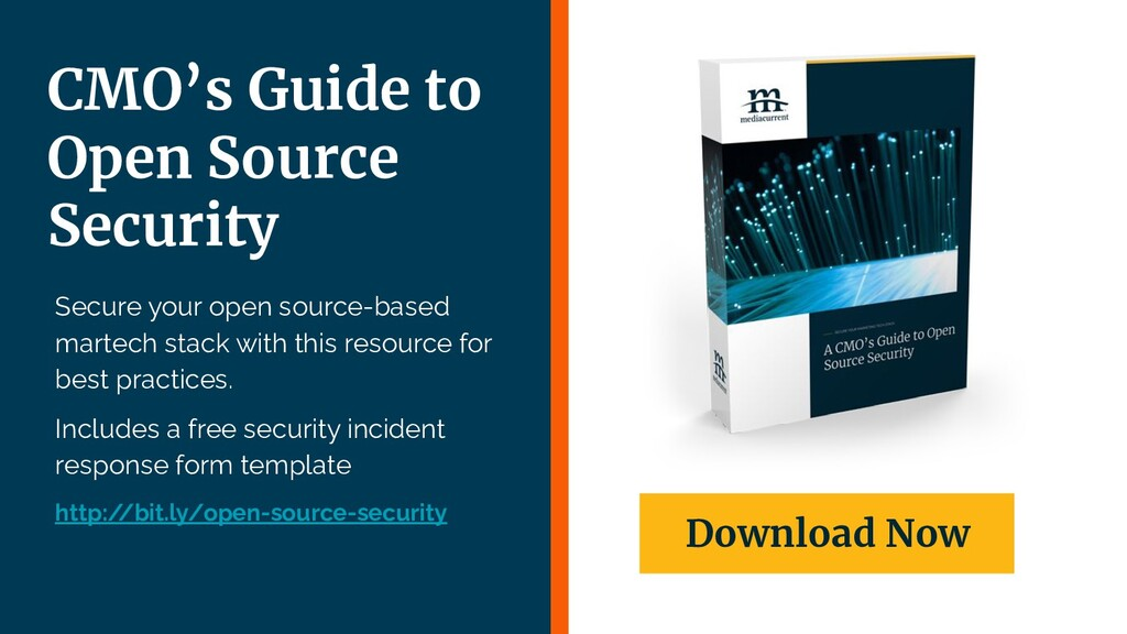   29 Secure your open source-based martech stac...
