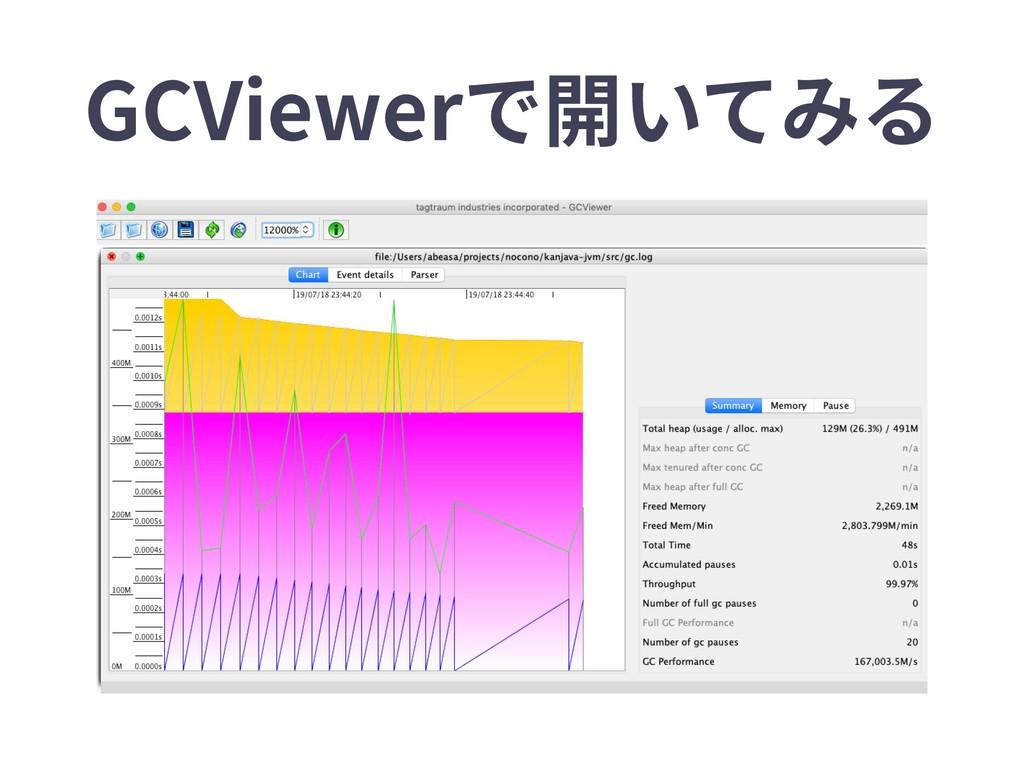 GCViewerで開いてみる