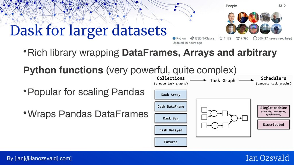  Rich library wrapping DataFrames, Arrays and ...