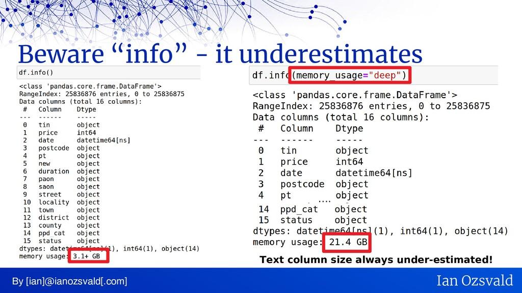 "Beware ""info"" - it underestimates By [ian]@iano..."