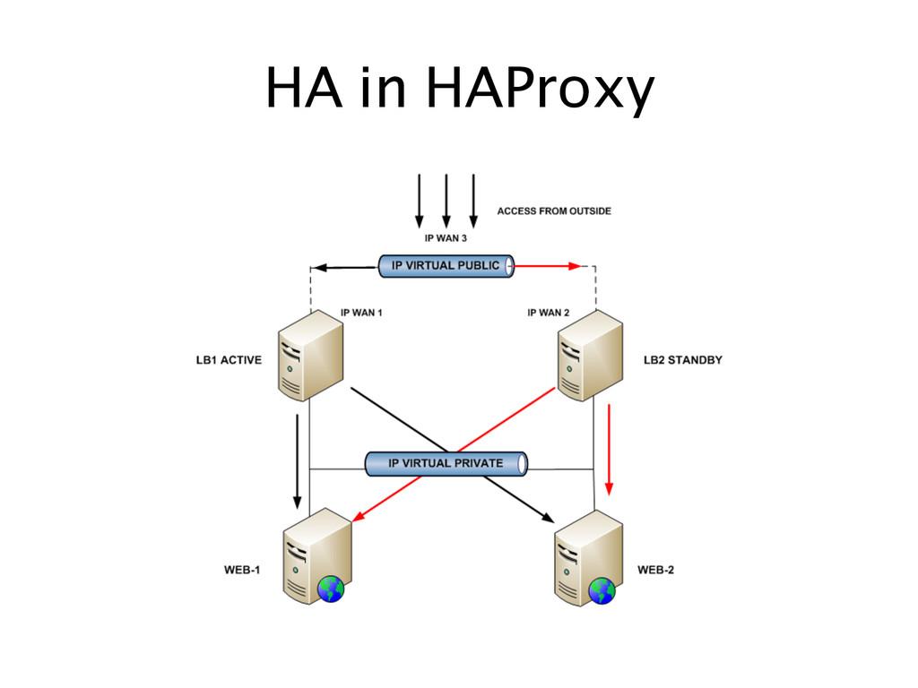 HA in HAProxy
