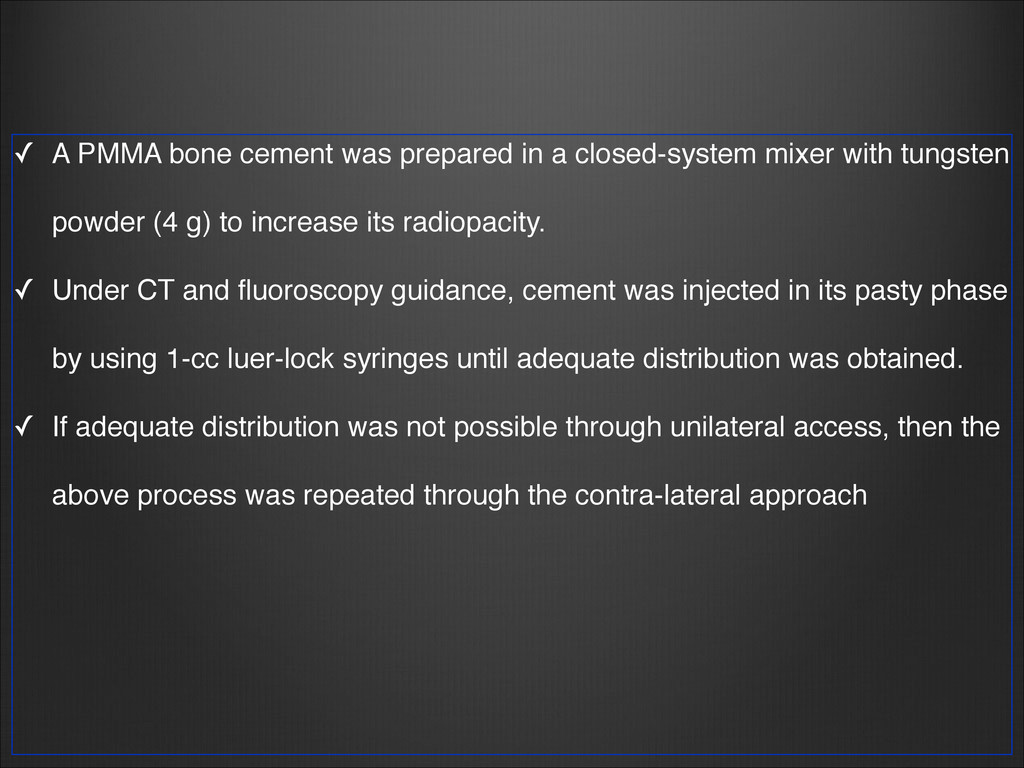 ✓ A PMMA bone cement was prepared in a closed-s...