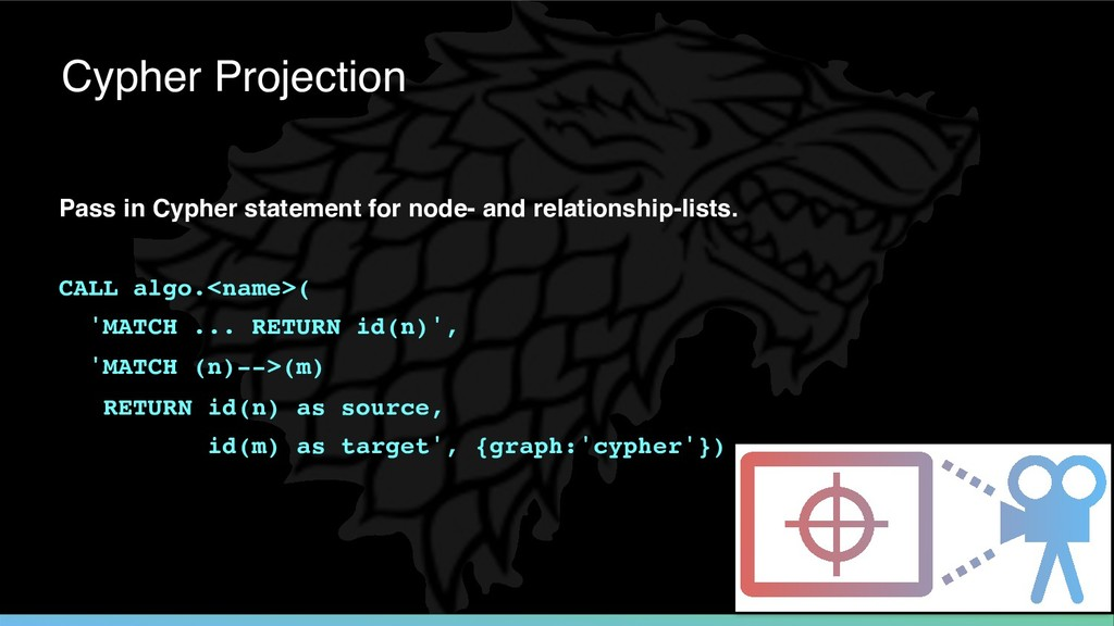 Pass in Cypher statement for node- and relation...