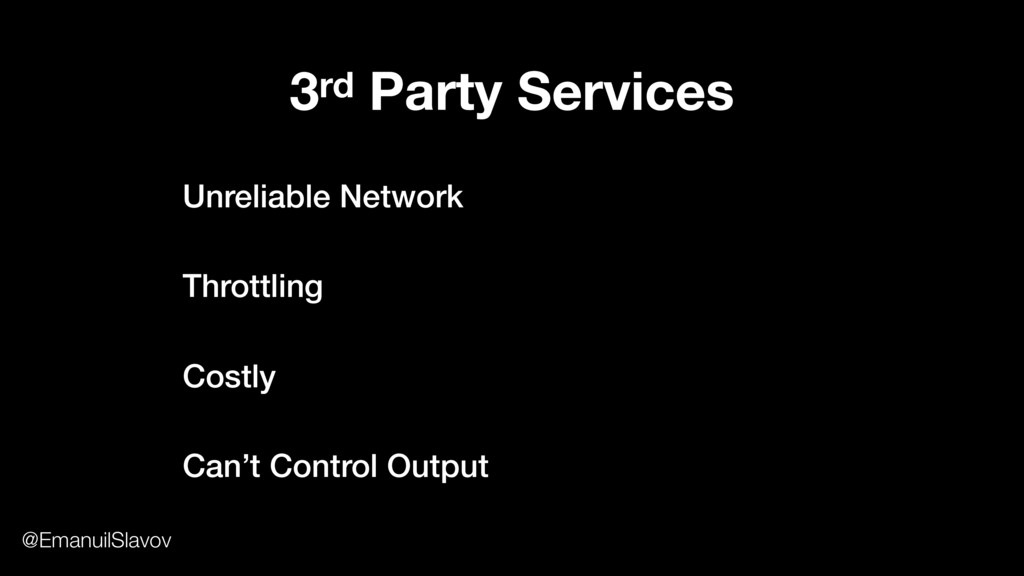 3rd Party Services Unreliable Network Throttlin...
