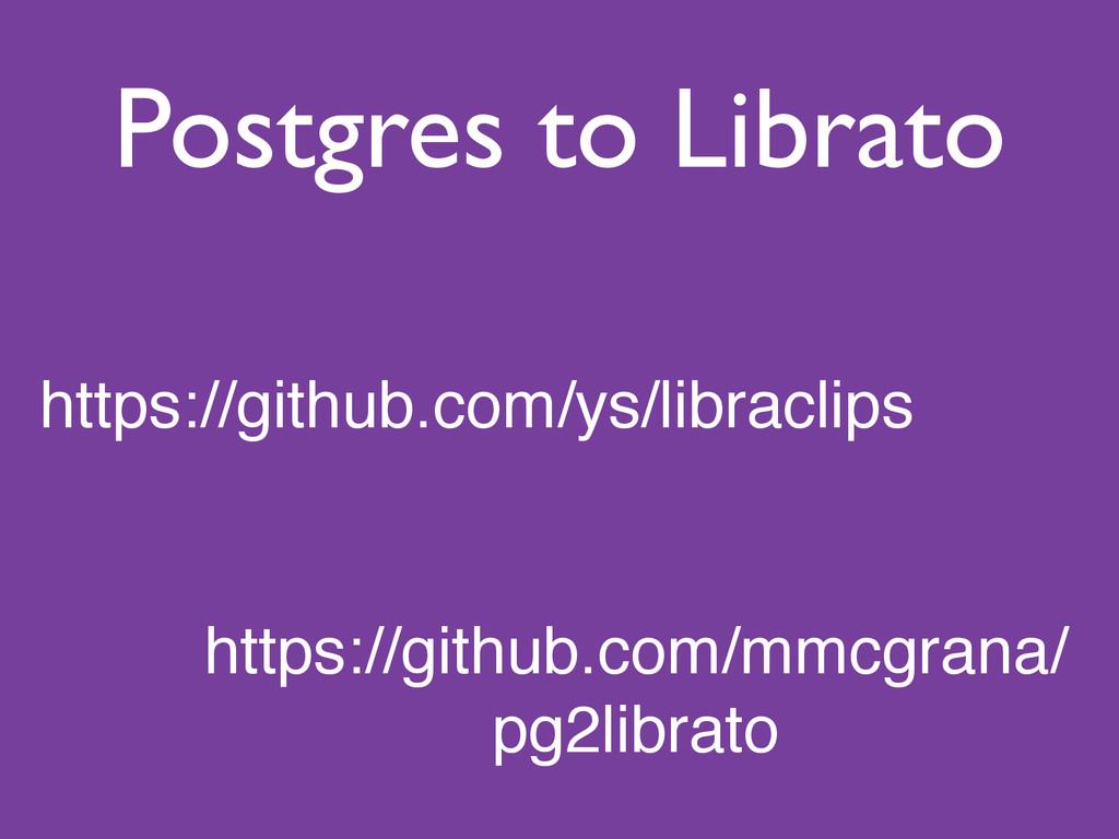 Postgres to Librato https://github.com/ys/libra...