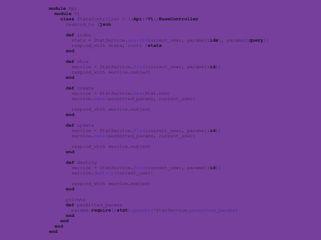 module Api module V1 class StatsController < ::...