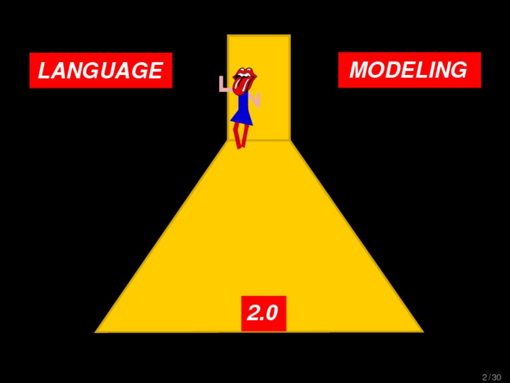 LANGUAGE MODELING 2.0 2 / 30