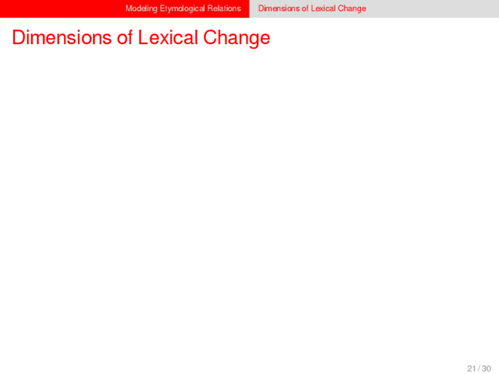 Modeling Etymological Relations Dimensions of L...