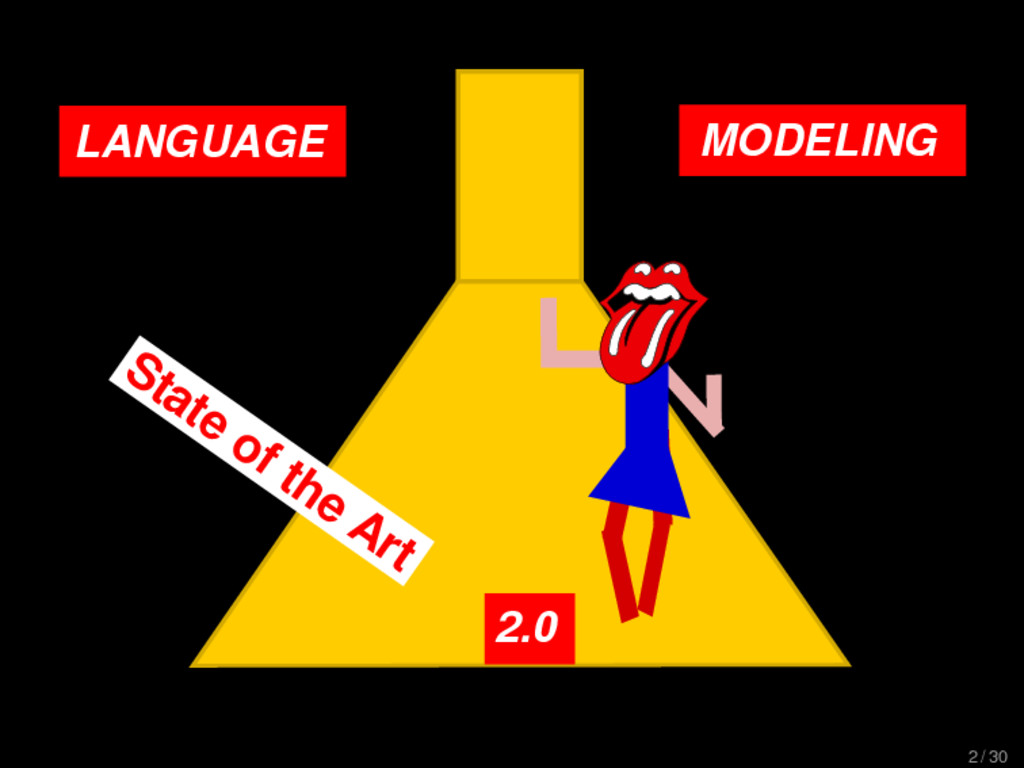 LANGUAGE MODELING 2.0 State of the Art 2 / 30