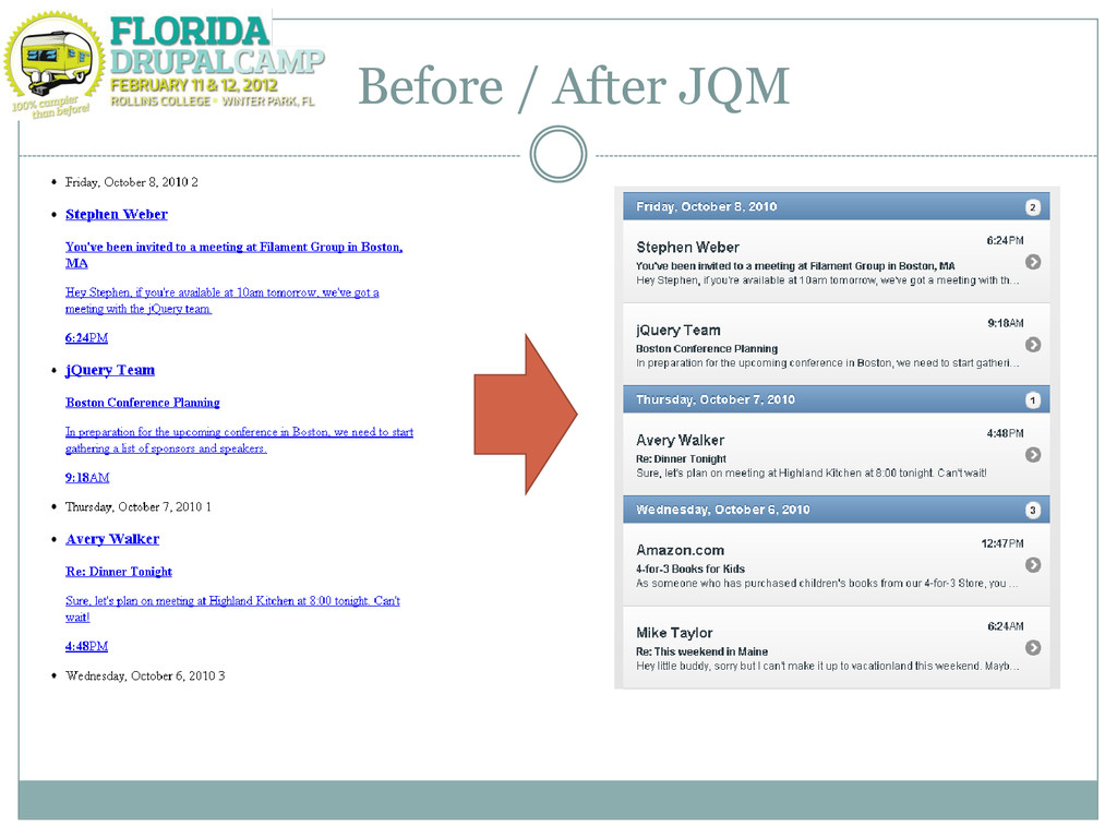 Before / After JQM