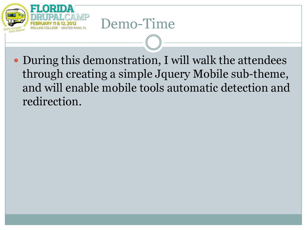 Demo-Time  During this demonstration, I will w...