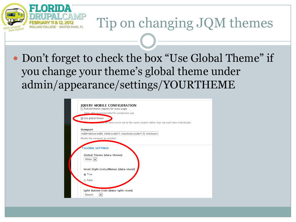 """Tip on changing JQM themes  Don""""t forget to ch..."""