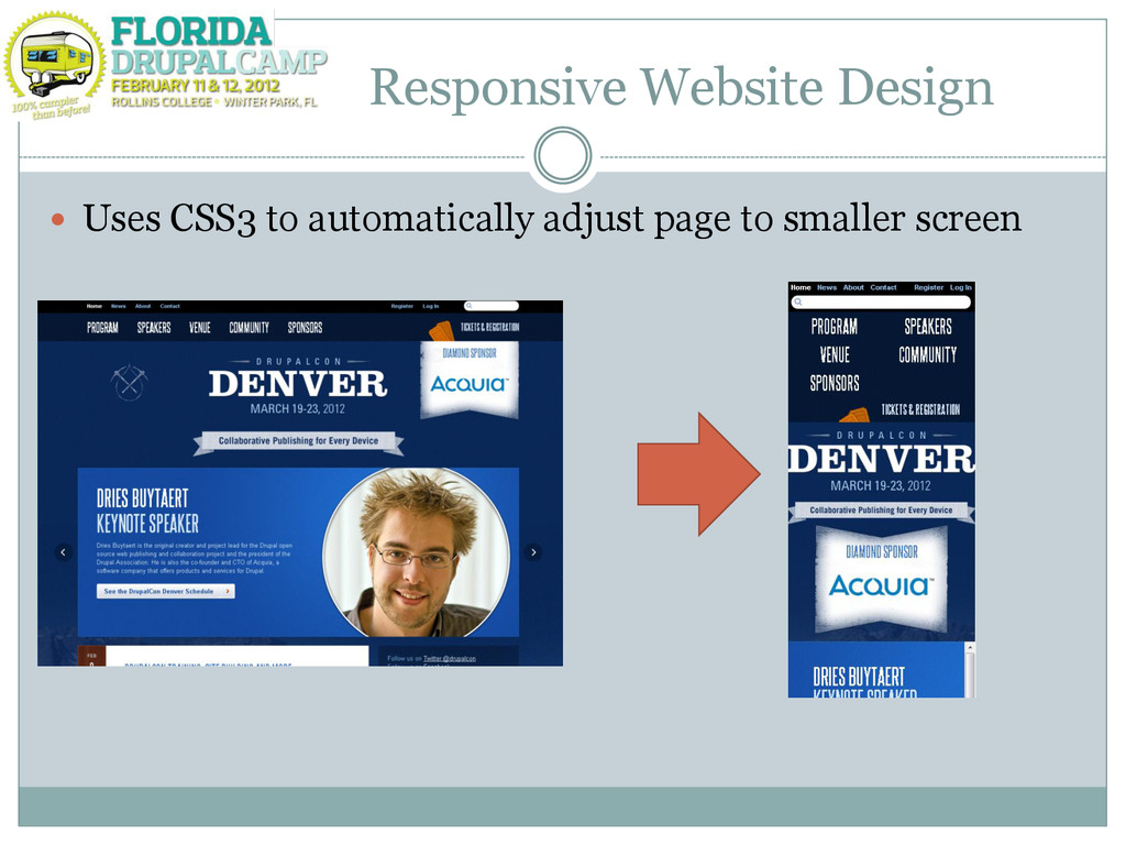 Responsive Website Design  Uses CSS3 to automa...