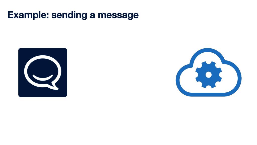 Example: sending a message