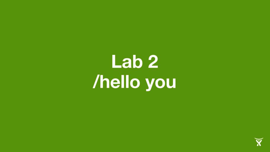 Lab 2 /hello you