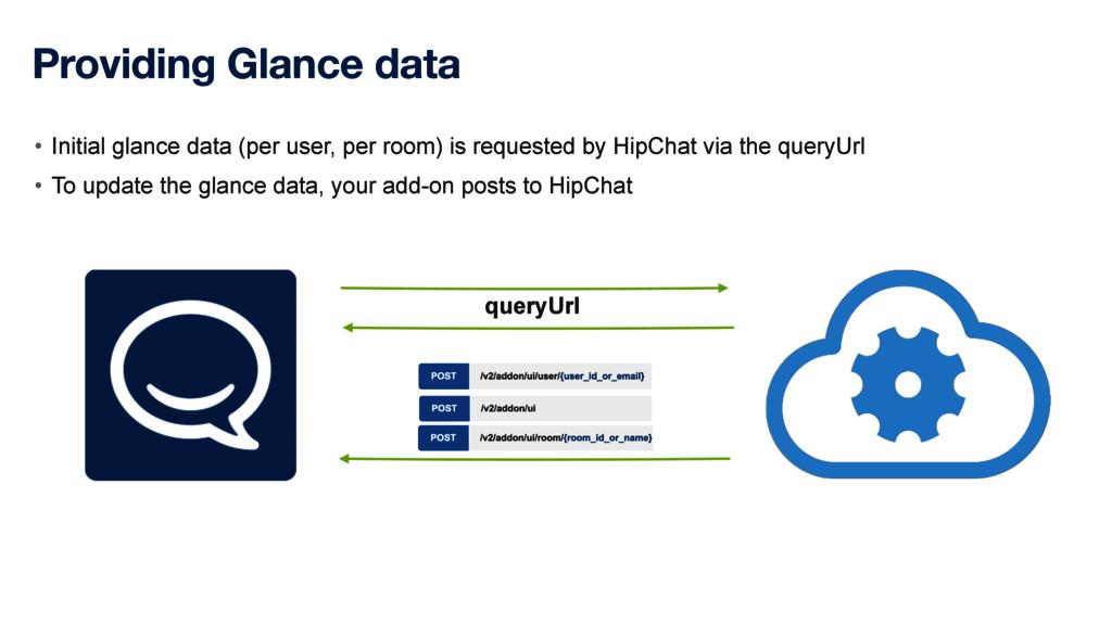 Providing Glance data • Initial glance data (pe...