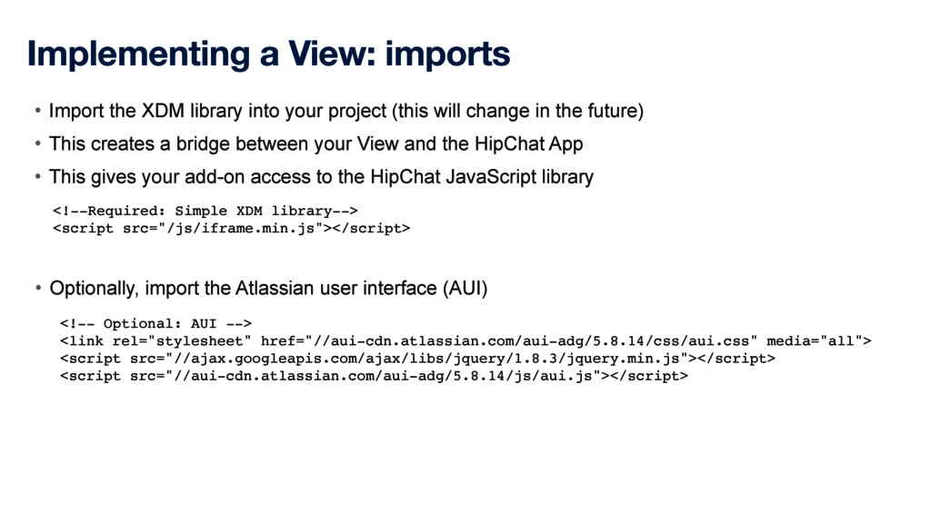 Implementing a View: imports <!--Required: Simp...