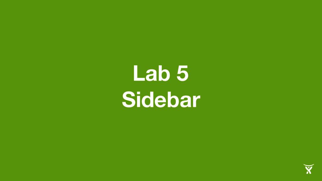 Lab 5 Sidebar