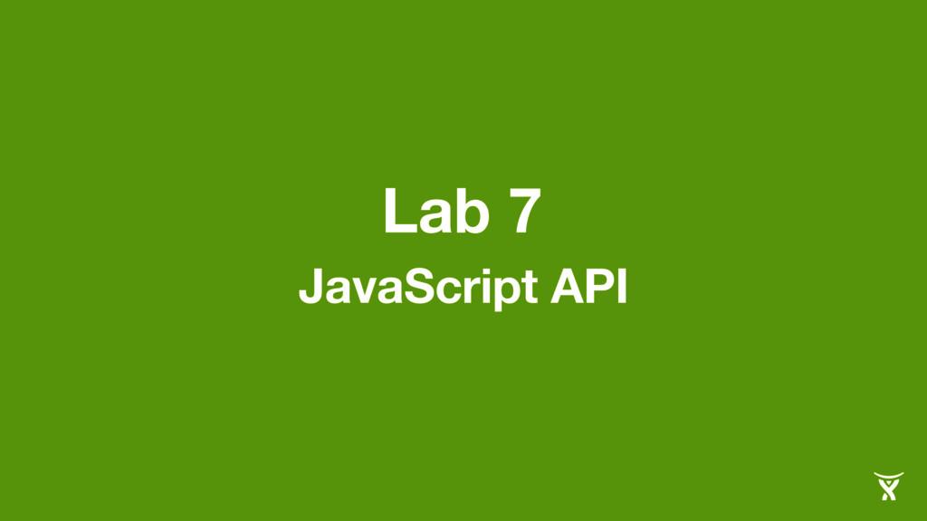 Lab 7 JavaScript API